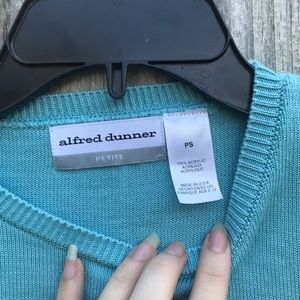 Alfred Dunner Tops - Petite small blue blouse by Alfred dunner
